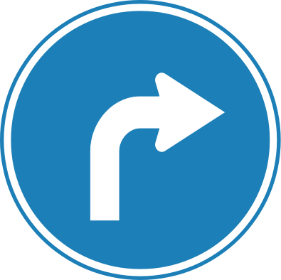 395px-Korean_Traffic_sign_(Right_Turn).svg